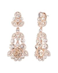 Givenchy | Metallic Crystal Chandelier Earrings | Lyst