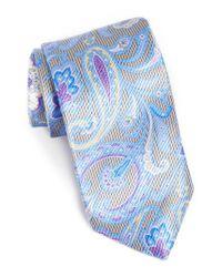 David Donahue - Blue Paisley Silk Tie for Men - Lyst
