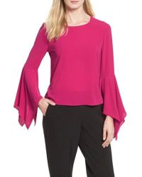 Vince Camuto | Pink Handkerchief Sleeve Blouse | Lyst
