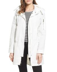 Vince Camuto | White Utility Parka | Lyst