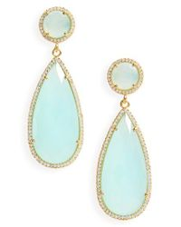 Susan Hanover | Blue Semiprecious Stone Teardrop Earrings | Lyst