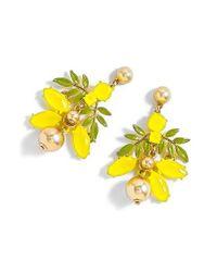J.Crew - Yellow Lemon Tree Earrings - Lyst