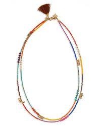Panacea | Metallic Double Row Tassel Necklace | Lyst