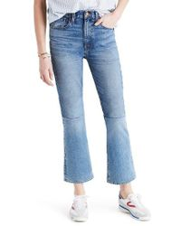 Madewell | Blue Retro Crop Bootcut Jeans | Lyst