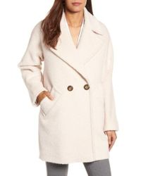 Trina Turk - Natural Nancy Double Breasted Coat - Lyst