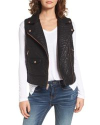 Marc New York - Black Billie Faux Leather Vest - Lyst