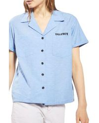 TOPSHOP | Blue Dreamer Chambray Shirt | Lyst