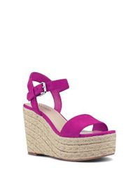 Nine West | Purple Do It Right Platform Wedge Sandal | Lyst