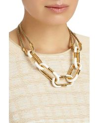 Lafayette 148 New York | Metallic Libre Link Statement Necklace | Lyst
