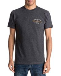 Quiksilver - Gray T Street Graphic T-shirt for Men - Lyst
