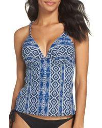 La Blanca - Blue Designer Jeans Print Tankini Top - Lyst