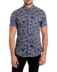 7 Diamonds   Blue Clarity Print Woven Shirt for Men   Lyst