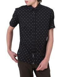 7 Diamonds | Black Free Sound Print Woven Shirt for Men | Lyst
