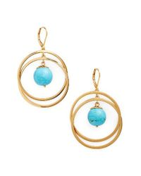 Kate Spade | Blue Start A Movement Drop Earrings | Lyst