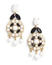Kate Spade | Metallic Statement Chandelier Earrings | Lyst