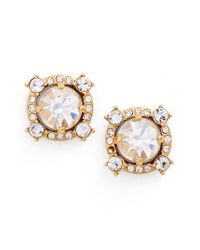 Kate Spade | Metallic Crystal Stud Earrings | Lyst