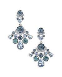 Givenchy | Blue Verona Crystal Drop Earrings | Lyst