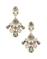 Givenchy | Metallic Verona Crystal Drop Earrings | Lyst