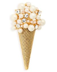 Marc Jacobs | Metallic Ice Cream Brooch | Lyst