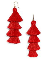 BaubleBar | Red Gabriela Fringe Earrings | Lyst