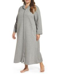 Carole Hochman | Gray Quilted Zip Robe | Lyst