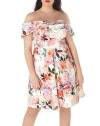 Dorothy Perkins   Pink Off The Shoulder Dress   Lyst