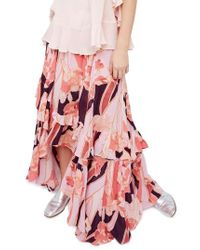 Free People | Pink Bring Back The Summer Maxi Skirt | Lyst