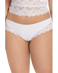 Only Hearts   White So Fine Hipster Panties   Lyst