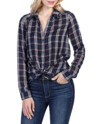 PAIGE | Blue Kiernan Plaid Shirt | Lyst