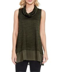 Two By Vince Camuto | Green Woven Hem Tunic | Lyst