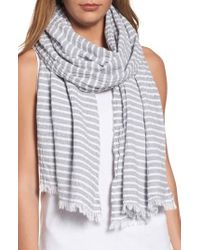 Eileen Fisher | Multicolor Stripe Organic Cotton Scarf | Lyst