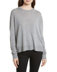 Equipment | Gray Irene Wool Blend Sweater | Lyst