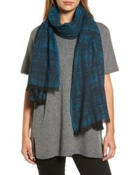 Eileen Fisher | Blue Organic Cotton Scarf | Lyst
