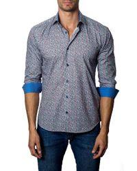 Jared Lang | Blue Sport Shirt for Men | Lyst