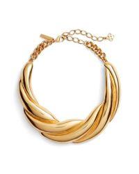 Oscar de la Renta | Metallic Twisted Rope Collar Necklace | Lyst