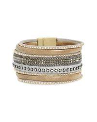 Panacea - Gray Faux Leather Bracelet - Lyst
