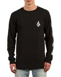 Volcom | Black Deadly Stones Long Sleeve T-shirt for Men | Lyst