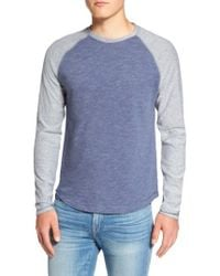 Original Penguin   Blue Raglan Long Sleeve T-shirt for Men   Lyst