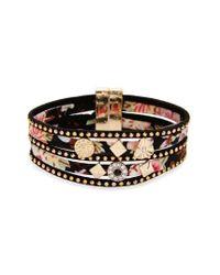 TOPSHOP | Metallic Embellished Floral Multistrand Bracelet | Lyst