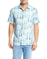 Tommy Bahama - Blue Right On Tide Silk Blend Camp Shirt for Men - Lyst