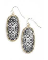 Kendra Scott - Metallic Elle Openwork Drop Earrings - Lyst