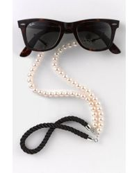 Corinne Mccormack - Black 'pearls' Eyewear Chain - Lyst