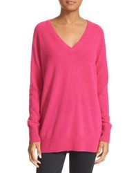 Equipment - Gray 'asher' V-neck Cashmere Sweater - Lyst