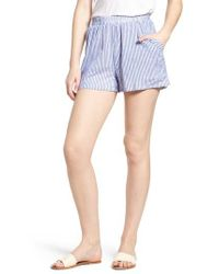 BISHOP AND YOUNG - Blue Bishop + Young Stripe Shorts - Lyst