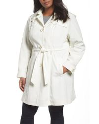 Gallery - Multicolor Belted Trench Raincoat - Lyst