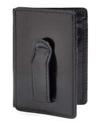 Bosca   Black 'old Leather' Front Pocket Id Wallet for Men   Lyst