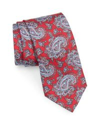 Brioni - Red Paisley Silk Tie for Men - Lyst