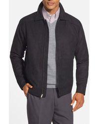 Cutter & Buck | Black 'roosevelt' Classic Fit Water Resistant Full Zip Jacket for Men | Lyst
