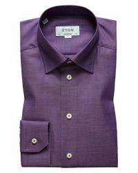 Eton of Sweden Purple Contemporary Fit Dress Shirt for men