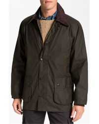 Barbour | Green 'bedale' Relaxed Fit Waterproof Waxed Cotton Jacket for Men | Lyst